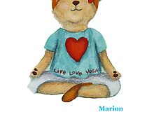 Marion live love yoga bear by Monica Batiste