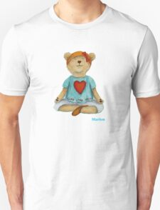 Marion live love yoga bear Unisex T-Shirt