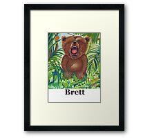 Brett live love yoga bear Framed Print