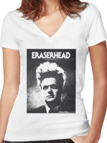 Eraserhead Poster Shirt Women's Fitted V-Neck T-Shirt