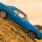 Old Blue Plymouth Barracuda by TilenHrovatic