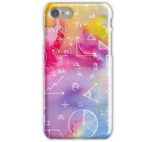 Math formulae (watercolor background) iPhone Case/Skin