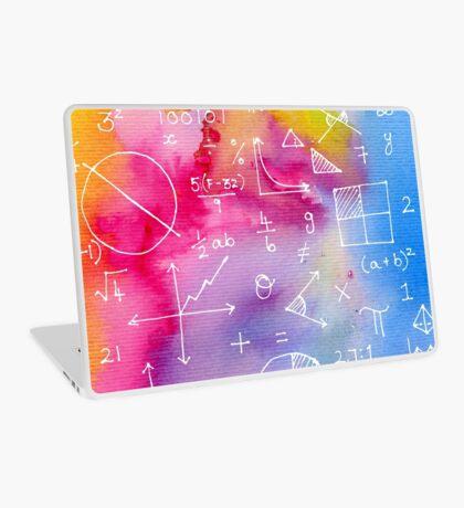 Math formulae (watercolor background) Laptop Skin
