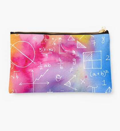 Math formulae (watercolor background) Studio Pouch