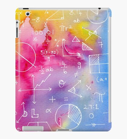Math formulae (watercolor background) iPad Case/Skin