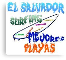 El Salvador surfing mejores playas Canvas Print