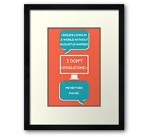 tfios - a world without Augustus Water (coral) Framed Print