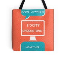 tfios - a world without Augustus Water (coral) Tote Bag