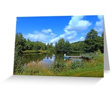 At the fairytale pond | waterscape photography Greeting Card