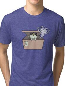 SCHRÖDINGER'S CAT IS...MEOWTH Tri-blend T-Shirt