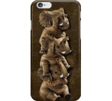 ELEPHANTS...SEE NO EVIL..HEAR NO EVIL,SPEAK NO EVIL IPHONE CASE  iPhone Case/Skin