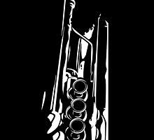 Jazz Trumpet Silhouette by MurphyCreative