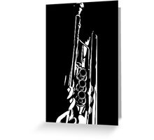 Jazz Trumpet Silhouette Greeting Card