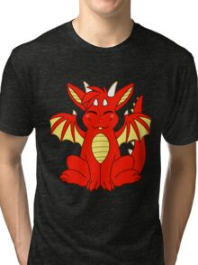 Cute Chibi Red Dragon Tri-blend T-Shirt