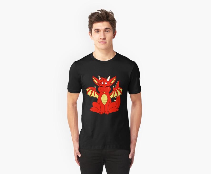 Cute Chibi Red Dragon by 8Bit-Paws