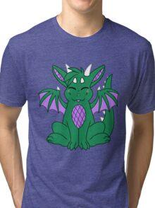 Cute Chibi Green Dragon Tri-blend T-Shirt