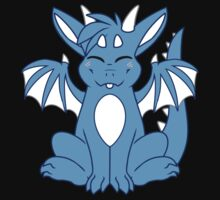 Cute Chibi Blue Dragon by 8Bit-Paws