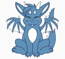 Cute Chibi Blue Dragon Kids Clothes