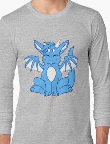 Cute Chibi Blue Dragon Long Sleeve T-Shirt