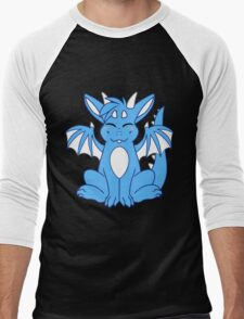 Cute Chibi Blue Dragon Men's Baseball ¾ T-Shirt