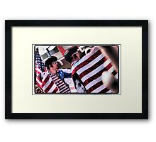 Red, White and Blue in Parkes Framed Print