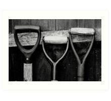 The Shovel, Spade & Fork Art Print