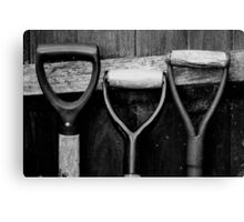 The Shovel, Spade & Fork Canvas Print
