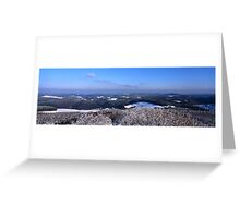 Panoramic view from mountain Hohe Acht Greeting Card