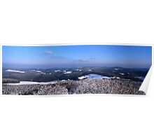 Panoramic view from mountain Hohe Acht Poster