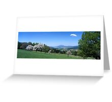 Flowering trees and rolling hills Greeting Card
