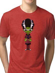 Cartoon Bride of Frankenstein Tri-blend T-Shirt