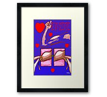 BE MY VALENTINE 3 Framed Print