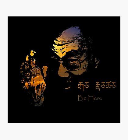 Tibetan Sunset Dalai Lama  Photographic Print