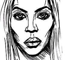 Beyonce Carter Knowles by sketchNkustom