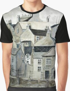 The Sea Front, Staithes Graphic T-Shirt
