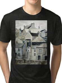 The Sea Front, Staithes Tri-blend T-Shirt