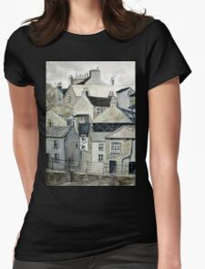 The Sea Front, Staithes Womens Fitted T-Shirt
