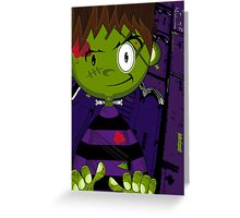 Mini Cartoon Frankenstein Greeting Card