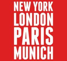 New York, London, Paris, Munich - [White] Kids Clothes
