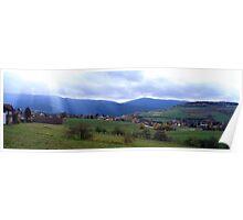 Bavarian village in autumn Poster