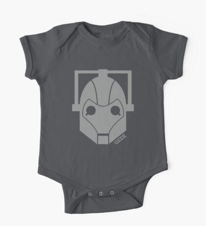 Geek Shirt #1 Cyberman Grey One Piece - Short Sleeve