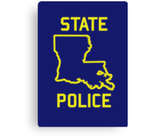 True Detective - Louisiana State Police Canvas Print