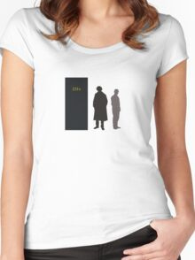 Sherlock Holmes and Dr. Watson Women's Fitted Scoop T-Shirt