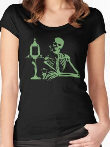 Absinthe Skeleton v2 Women's Fitted Scoop T-Shirt