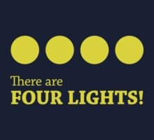 There are FOUR LIGHTS! (Yellow Ink) One Piece - Long Sleeve