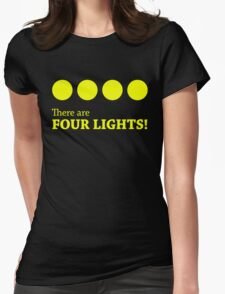 There are FOUR LIGHTS! (Yellow Ink) Womens Fitted T-Shirt