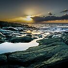 Sunset at Norwegian sea by Paulius Bruzdeilynas