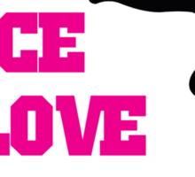 Peace, Love, Gymnastics Sticker