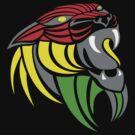 Reggae Music Cool Lion Reggae Colors T Shirts and Stickers by Denis Marsili - DDTK