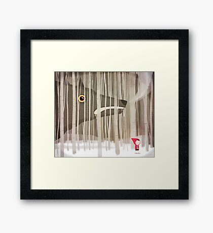 Big Bad Wolf Framed Print